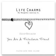 Life Charms Fabulous Friend Silver Plated Bracelet